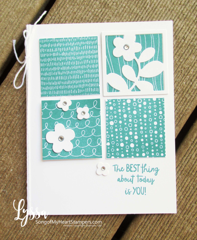 All Squared Away floral square dies Stampin Up Lyssa class printable tutorial live ideas cardmaking stamping