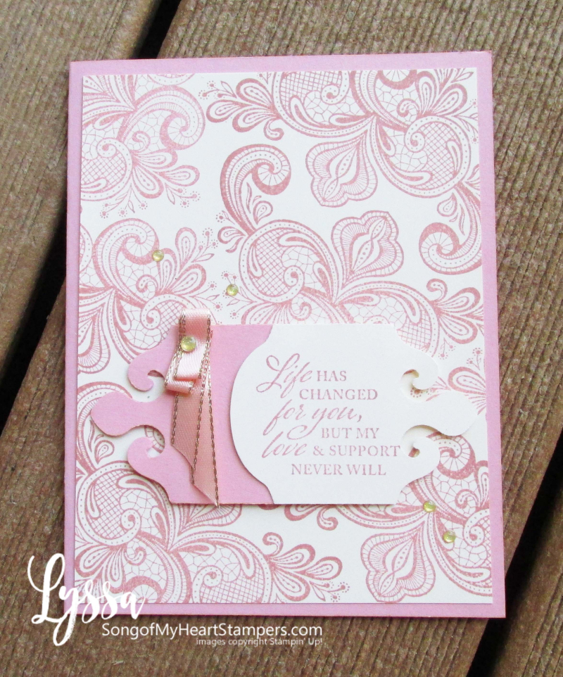 Simply elegant Stampin Up punch suite wedding anniversary sympathy formal invitation comfort DIY cardmaking