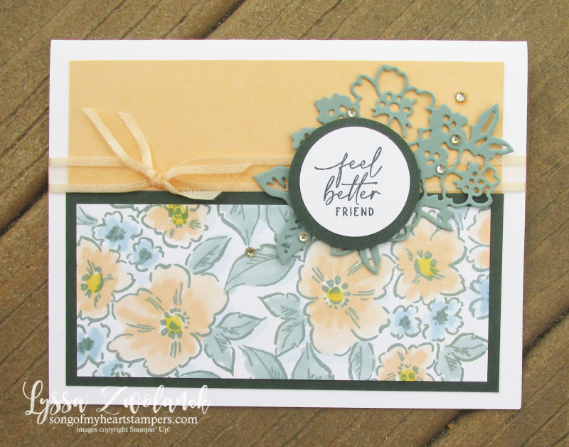 Pale Papaya Stampin Up hand penned petal paper supplies ink idea tutorial