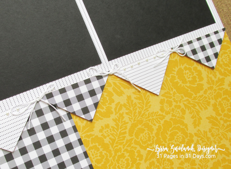 12 x 12 Pages Days Lyssa scrapbooking blog layout inspiration gingham plaid buffalo check