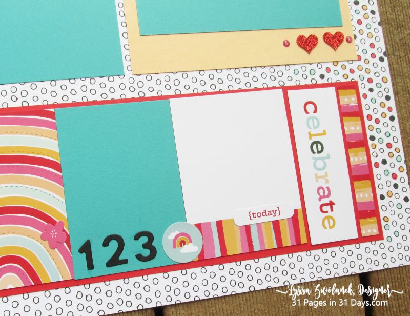 12 x12 Days Pages scrapbooking series Lyssa Stampin Up layout back kids school