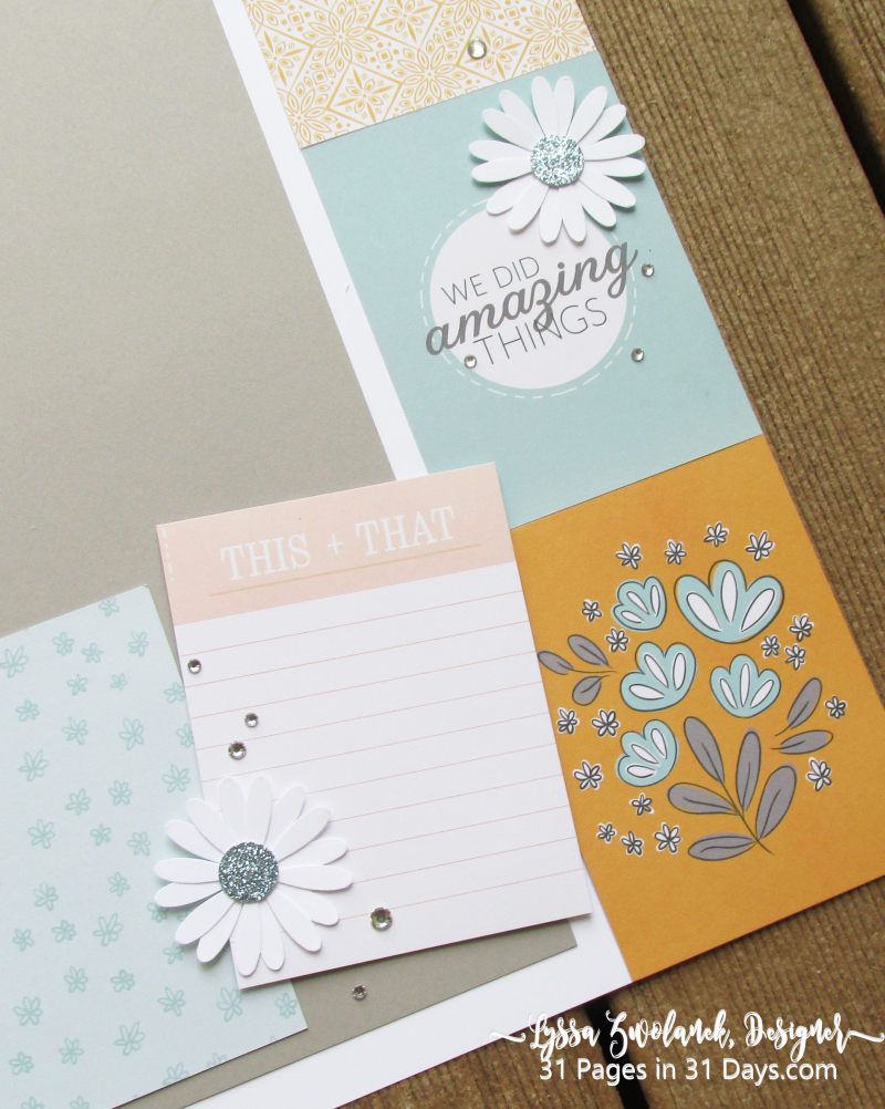 12x 12 scrapbooking series Lyssa Stampin Up 31 pages days layout