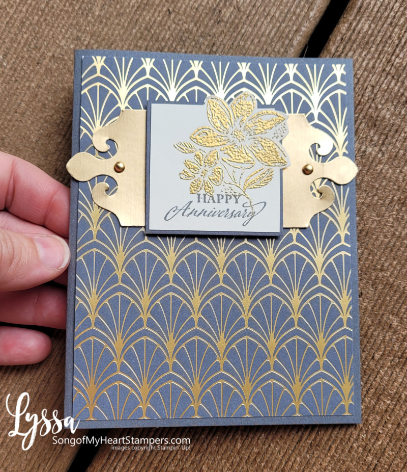 August class month Lyssa simply elegant punch Stampin Up idea cardmaking wedding DIY card