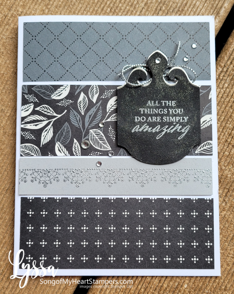 August class month Lyssa simply elegant punch Stampin Up idea masculine anniversary