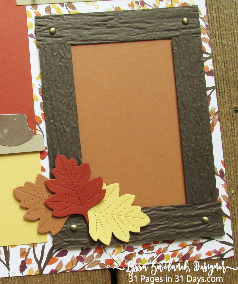 31 days pages layouts stampin up scrapbooking Lyssa fall autumn paper