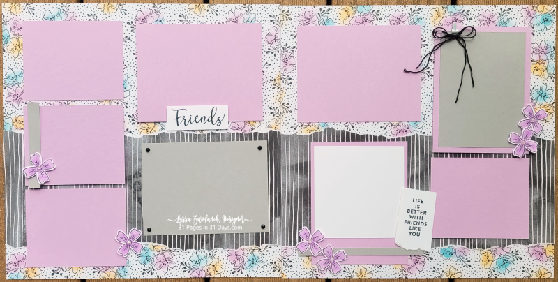 31 days Lyssa pages scrapbooking stampin Up papers Saleabration daube rlayout