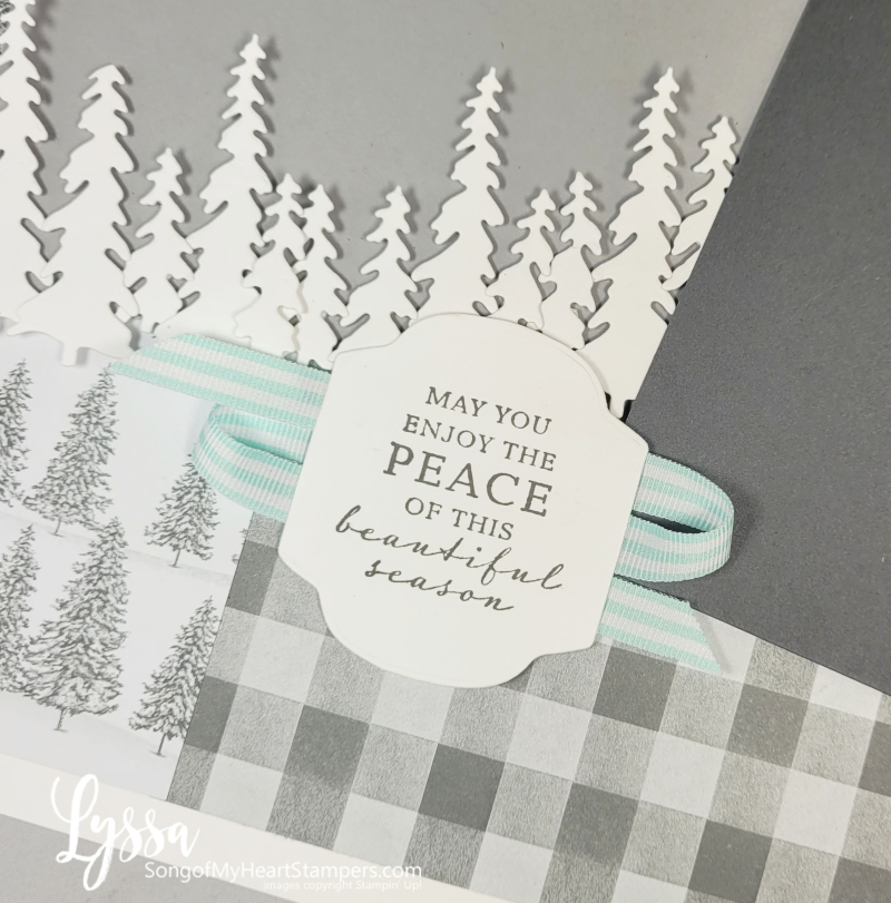 Peaceful place papers Stampin Up scrapbooking ideas templates layouts pages plaid cabin winter holiday new year